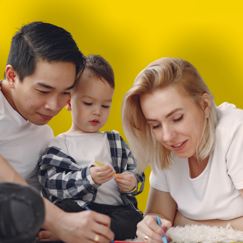 Family yellow background
